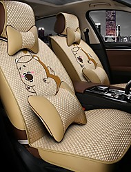 Car Seat Cushion Car Seat Cover Family Car Seat 5 Seasons General Cartoon Ice Beige.