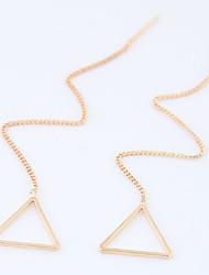 Mulheres Brincos Compridos Moda Euramerican Liga Forma Geométrica Triangular Jóias Para Diário Casual 8 pçs
