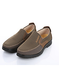 Men's Loafers & Slip-Ons Formal Shoes Fabric Spring Fall Office & Career Casual Flat Heel Light Brown Black Flat