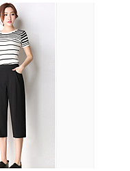 Women's Low Rise Micro-elastic Chinos Pants,Boho Loose Solid