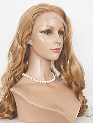 Femme Perruque Synthétique Lace Front Long Ondulation naturelle Blond de fraise Auburn Auburn foncé Ligne de Cheveux Naturelle Perruque
