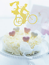1Pcs/set  Romantic Bicycle Decorate A Cake Flag Cake Inserted Card Card For Decoration The Bride And Groom