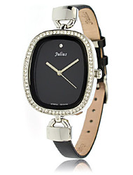 Women's Fashion Watch Japanese Quartz Water Resistant / Water Proof Leather Band Casual Black White Brown Gold