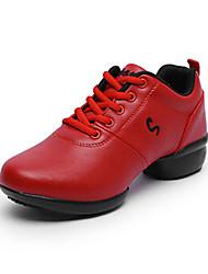 Non Personnalisables Femme Modernes Similicuir Baskets Extérieur Fleur Talon Plat Blanc Noir Rouge 5,1 à 7cm