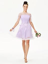 Princesse bijou pendentif longueur au genou dentelle tulle robe demoiselle d'honneur avec fleur (s) perle détail