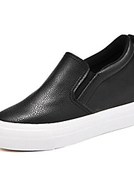 Women's Sneakers Comfort Microfibre Spring Casual Screen Color Black White Flat