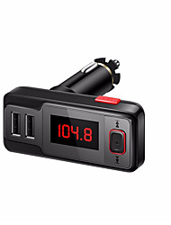 Car MP3 Audio Player Bluetooth FM Transmitter Transmiter FM Modulator Car Kit LCD Display USB Charger for iPhone Samsung