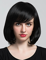 Ripe Black BOBO Partial Fringe Human Hair Wig Woman hair