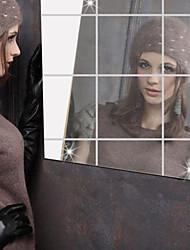 Miroir Stickers muraux Miroirs Muraux Autocollants Autocollants muraux décoratifs,Vinyle Matériel Décoration d'intérieur Calque Mural