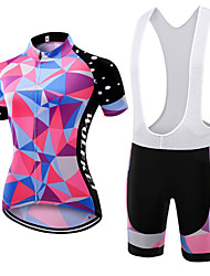 WOLFKEI Summer Cycling Jersey Short Sleeves BIB Shorts Ropa Ciclismo Cycling Clothing Suits #36
