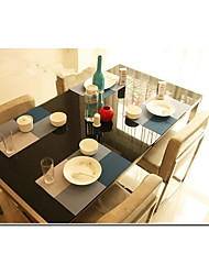 Pure Color Stripe Matts PVC Environmental Western Hotel Manager Lin Eat Mat Heat Insulation Cup Mat Bowls Mat Table MATS