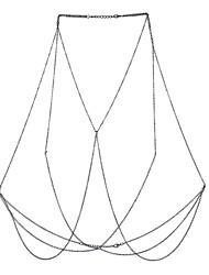 Женский Украшения для тела Цепь Тела / Belly Chain Природа Дружба Богемия Стиль Хип-хоп Фильм ювелирные изделия Сплав Геометрической формы