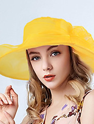 Women's Fashion Handmade Flowers  Bucket Sun Hat Rural Style Spring/Fall  Summer Hats