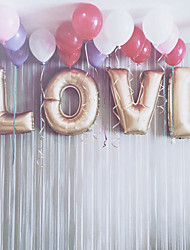 L-O-V-E 32inch Balloons Gold Beter Gifts® Party Decoration