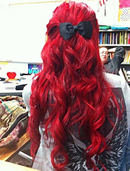 Top Quality Wave Wig Synthetic Lace Front Wigs Red Color Heat Resistant Synthetic Hair Wig