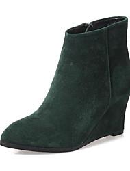 Damen Schuhe Wildleder Frühling Komfort Stiefel Für Normal Schwarz Grün