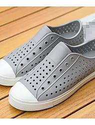 Herren Sandalen Komfort Loch Schuhe paar Schuhe Gummi Frühling Lässig Weiß Schwarz Grau Flach
