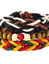 New Color Woven Genuine Leather Bracelet