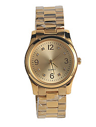 Unisex Fashion Watch Japanese Japanese Quartz / Stainless Steel Band Elegant Casual Gold