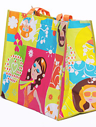 Women Tote Plastic All Seasons Casual Shopper Without Zipper Yellow