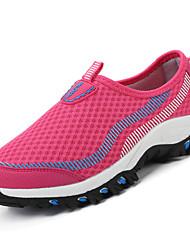 Для женщин Спортивная обувь Удобная обувь Полиуретан Весна Осень Повседневный На плоской подошвеПурпурный Красный Синий Розовый