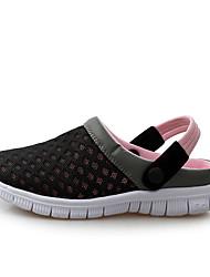 Unisex Sandalen Komfort Leuchtende Sohlen paar Schuhe Tüll Sommer Herbst Lässig Schwarz Dunkelblau Dunkelgrau Rosa 2,5 - 4,5 cm
