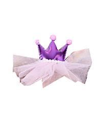 Собака Толстовки Банданы и шляпы Аксессуары для шерсти Одежда для собак Для вечеринки На каждый день День рождения Тиары и короныКрасный