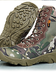 Men's Athletic Shoes Ankle Strap Tulle Fall Winter Athletic Outdoor Office & Career Trail Running Ankle Strap Lace-up Low HeelArmy Green