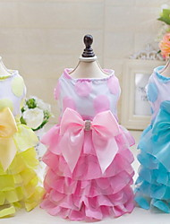 Autre Robe Vêtements pour Chien Mignon Mariage Décontracté / Quotidien Princesse Jaune Bleu Rose