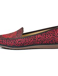 Women's Flats Classic & Timeless Fabric Spring/Fall Casual Flat Heel Ruby Coffee Flat