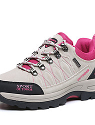 Women's Athletic Shoes Comfort Others Suede Spring Fall Athletic Outdoor clothing Flat Heel Fuchsia Gray  Hiking Shoes