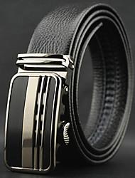 Men's Genuine Leather Waist Belt Fashion/Business/Dress/Casual Black Belts