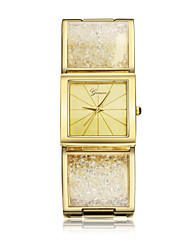 Women's Wrist watch Quartz Imitation Diamond 18K Gold Plated Band Bangle Gold