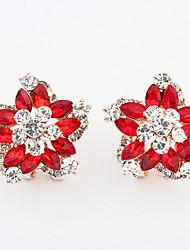 Han edition ruili dazzle colour fashion flower ear clip