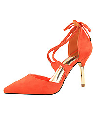 Damen-High Heels-Kleid-Wildleder-Stöckelabsatz-Komfort-
