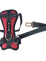 Chien ceinture de sécurité animal domestique chiot en peluche doré sangle taille moyenne chien