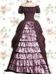 Uma-Peça/Vestidos Doce Lolita Cosplay Vestidos Lolita Vintage Concha Manga Curta Comprido Vestido Para Outro