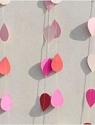 2m Rain Drop Paper Garlands Baby Shower Garlands Sprinkle Decorations Shower Rainbow Banner Holiday Party Wedding Room Decora