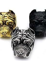 Кольцо Бижутерия Животный дизайн Панк Массивные украшения Нержавеющая сталь В форме животных Бижутерия ДляHalloween Повседневные