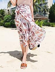 Mujer Noche Vacaciones Midi Faldas Verano Estampado