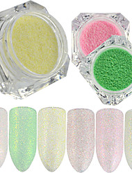 0.2g/bottle New Fashion Sweet Style Candy Color Nail Art Glitter Sugar Coating Powder Beautiful Shining Mermaid Design Sparkling Decoration TY6-11