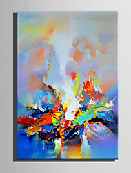 Mini Size E-HOME Oil painting Modern Abstract Color Spark Pure Hand Draw Frameless Decorative Painting