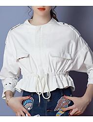 Damen Mantel / Capes,Rundhalsausschnitt ¾ Ärmel