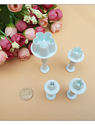 4Pcs/Set Cake Tools Plum Blossom Fondant Cake Decorating SugarCraft Plunger Cutter Flower Mold Home Kitchen Bake Tools