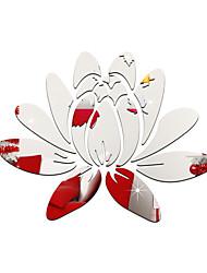 Зеркала Мода Цветы Наклейки 3D наклейки Зеркальные стикеры Декоративные наклейки на стены,Акрил материал Украшение дома Наклейка на стену