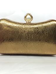 Вечерняя сумочка Полиуретан Замок с защелкой Цвет шампанского Золотой Серебряный Кофейный