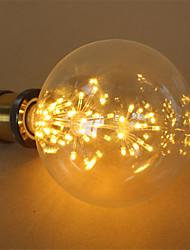 1pcs G125 Starry sky lamp LED Edison Filament  3W E27 Light bulb Firework Lamp Dimmable Decorative Christmas gift AC220-240V
