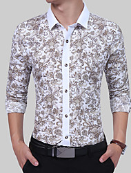 Men's Party Birthday Thank You Business Daily Casual Casual/Daily Work Quinceañera & Sweet Sixteen Vintage Simple Boho All Seasons Shirt,