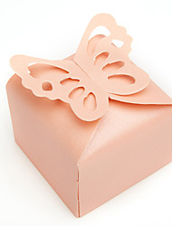 12 Piece/Set Favor Holder - Cuboid Pearl Paper Favor Boxes Butterfly