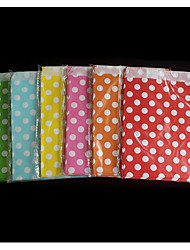 One-time Food Bag Wave Point Polka Dot Paper Bag Foreign Trade Color Paper Bag